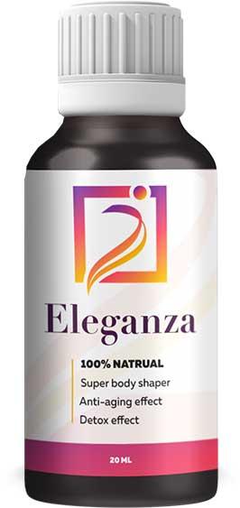 Eleganza ist ein Ergänzungsmittel in Form von Tropfen, das Ihnen hilft, in Form zu bleiben