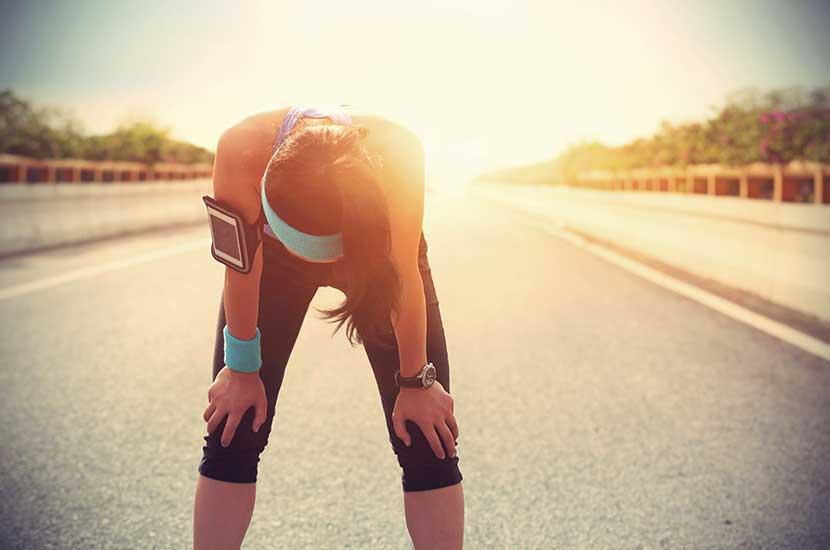 Zu viel Sport kann sich auch auf die Knie auswirken