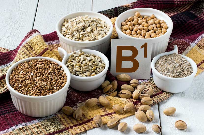 Vitamin B1 kommt hauptsächlich in Getreide und Hülsenfrüchten vor.