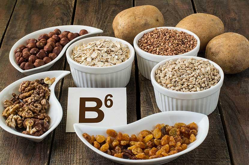 Vitamin B6 kommt natürlicherweise in Fleisch, Eiern, Fisch und Gemüse vor.